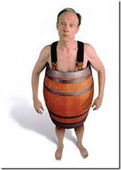 man with barrel
