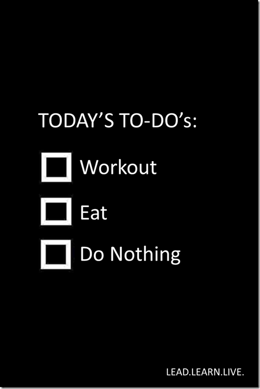 TODAY'S TO-DO'S