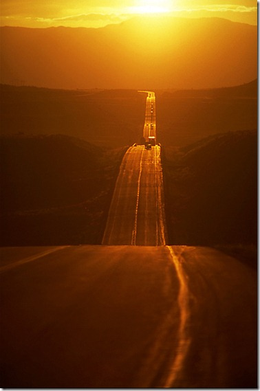 the road ahead in the sun