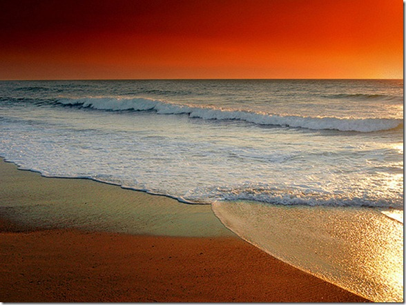 the quiet place ocean waves sunrise