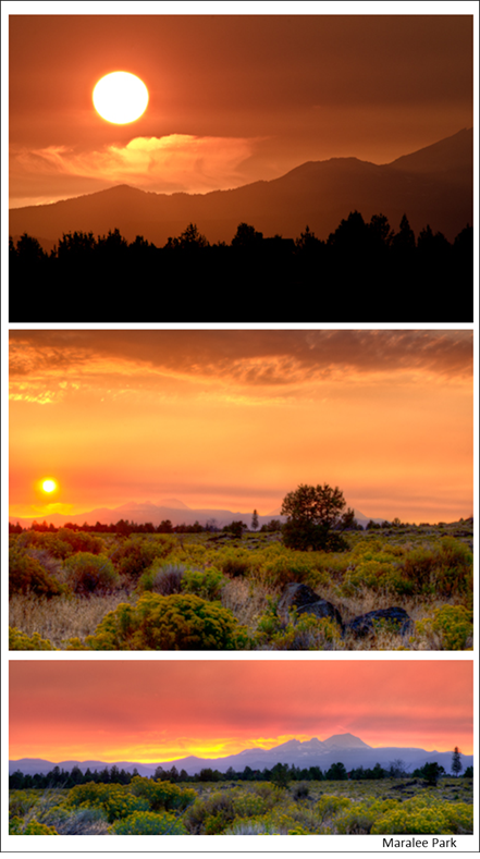 sunset at bend central oregon by maralee park