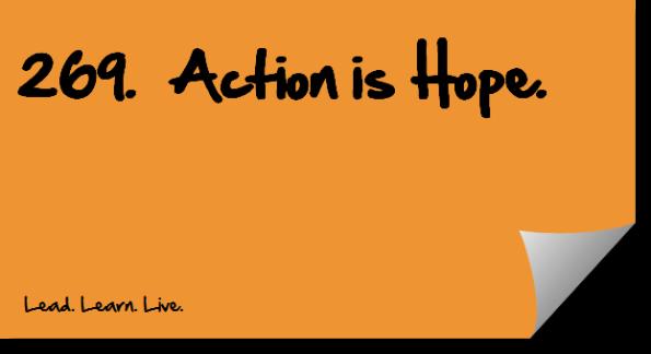 action, hope, success, self-help, philosophy, Ray Bradbury, quote, quotation