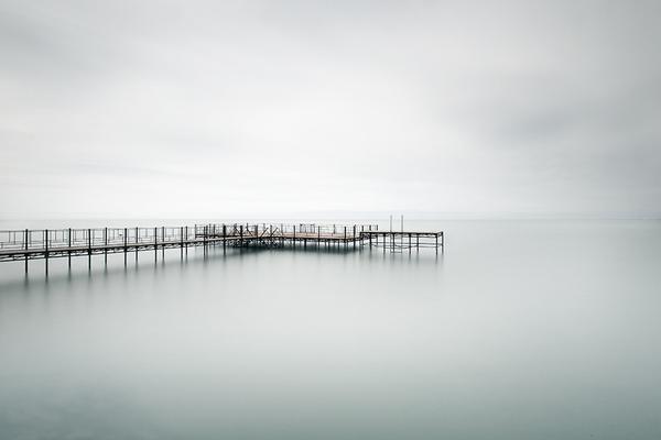 calm, serene, ocean, dock, zen, peace, quiet mind