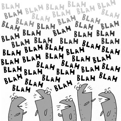 illustration, cartoon, blah blah, talking too much, funny
