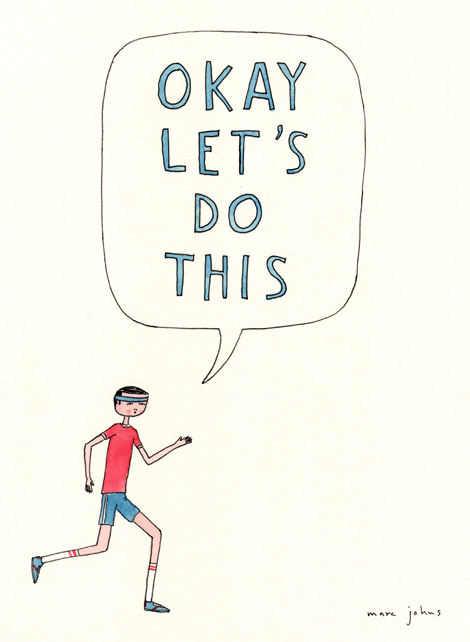 run, running, exercise, diet, fitness, funny, illustration, marc johns