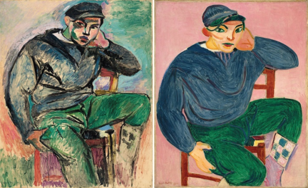 henri matisse-young-sailor I & II (1906)