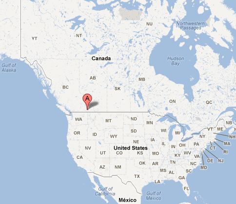 Kootenays - google maps