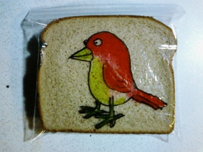 sandwich bag art, illustration