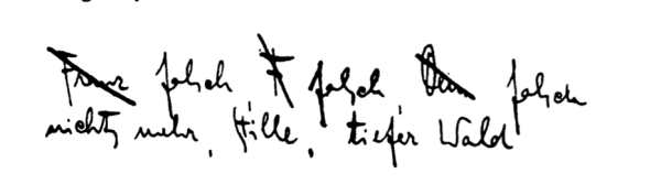 Fran Kafka signature in letter to Milena Jesenska