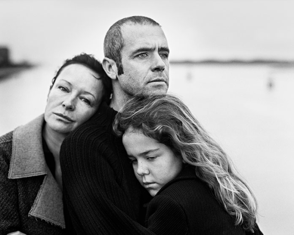 black and white photography, family, portrait