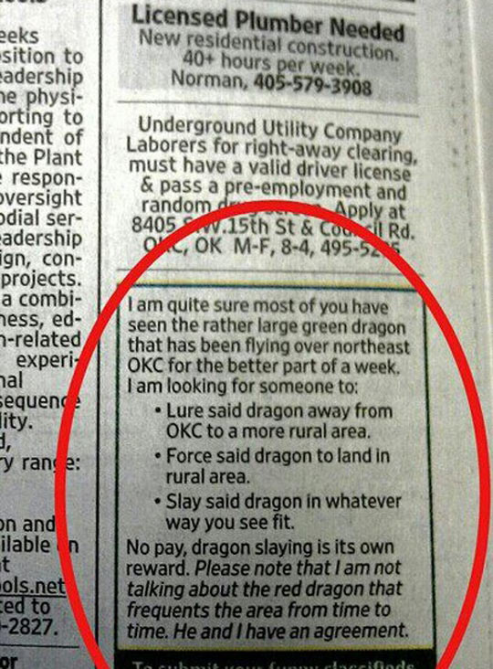 funny-green-dragon-newspaper