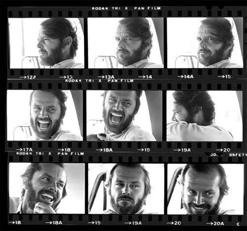 Jack Nicholson Contact Sheet 1979 by Harry Benson