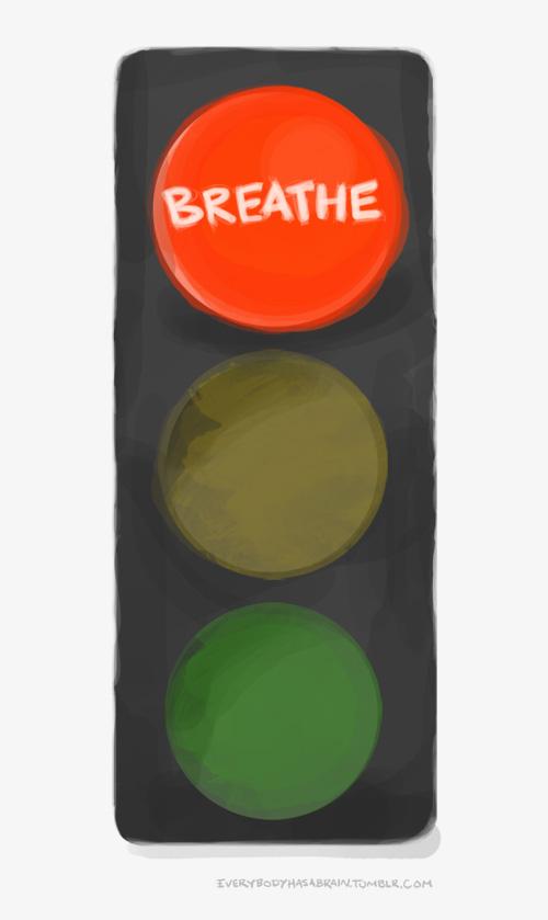 Breathe - red light