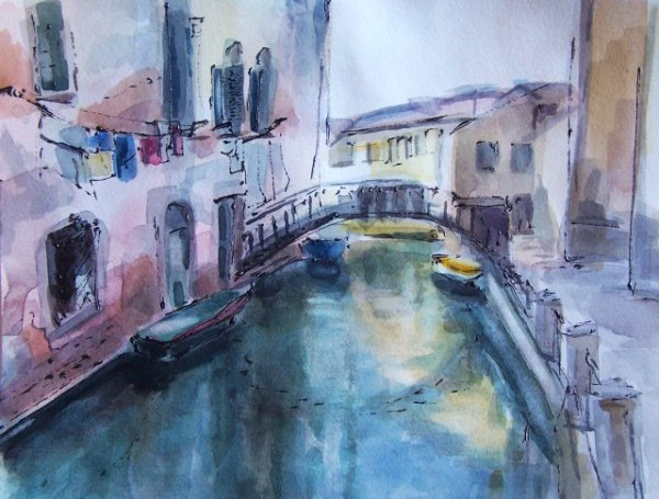 venice-water color-on-paper-ayse-juaneda