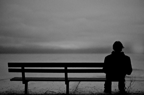 bench, solitude,thinking,black and white, photography