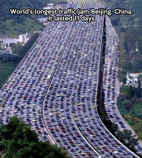 funny-traffic-China-jam-Beijing