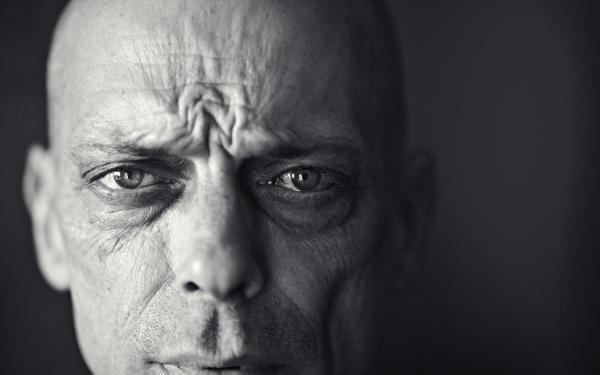 man-portrait-black and white