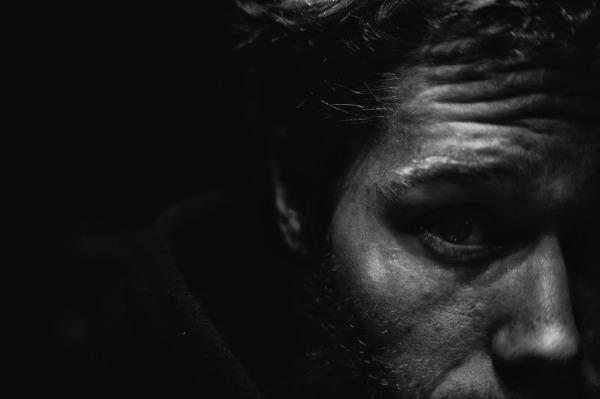 man, face,portrait,black and white, close-up,stare
