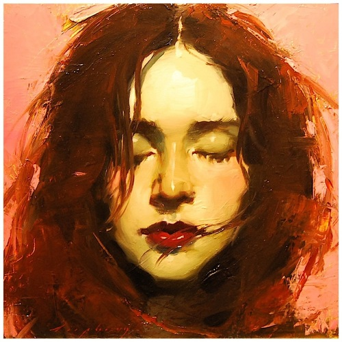 painting,art,woman,red