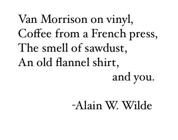 poem,Alain W. Wilde