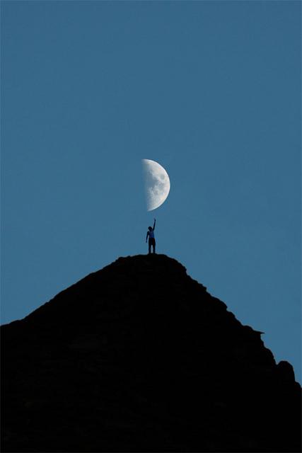 moon-blue-sky