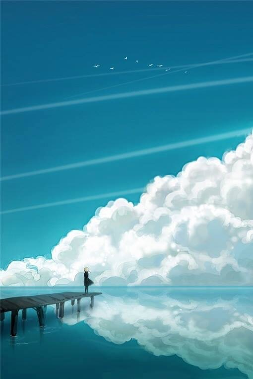 art-sky-blue-clouds