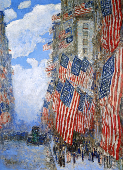 childe-hassam-art-american-flag-july-4th