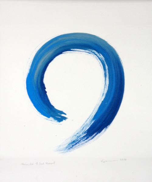 kazuaki-tanahashi-miracle-moment-present-art-blue