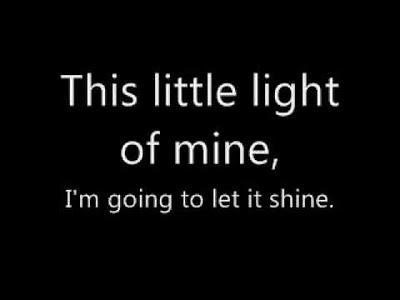 tune,lyrics,this little light of mine