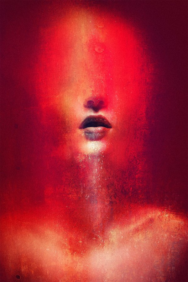 art-woman-red-remember-emotion