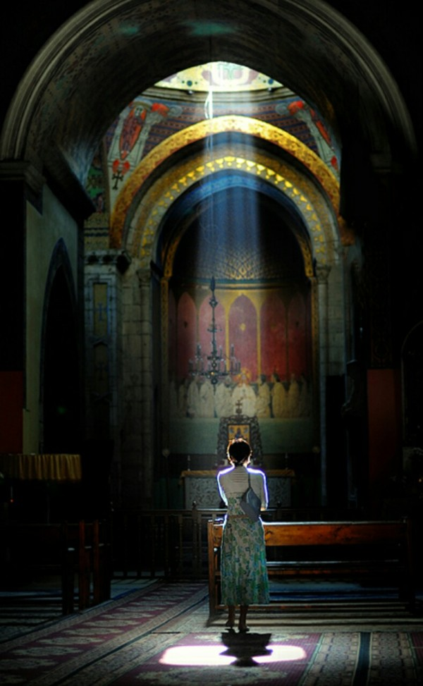 faith-light-God-church-woman-alone