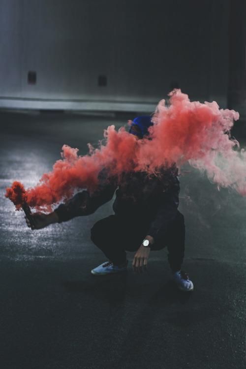 red-smoke