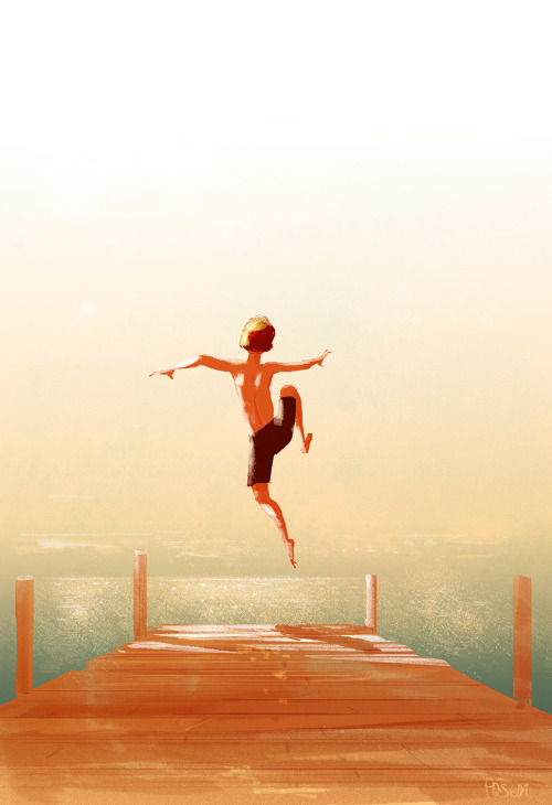 pascal-campion-drawing-illustration-jump-child-youth-memories
