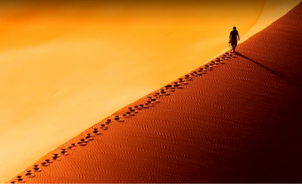 desert-sand-foot-prints-yellow