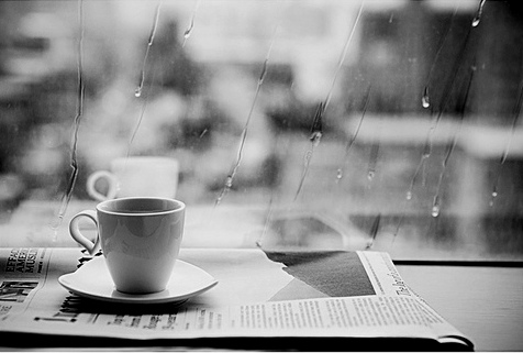 newspaper-coffee-morning-rain-raining