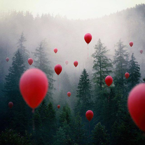 balloons-red-forest