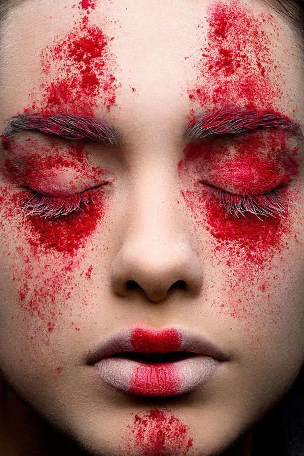 face-paint-powder-red