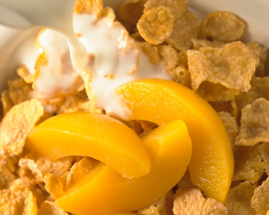 cereal-peach-breakfast