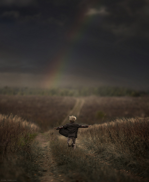 rainbow-child-country-boy-running