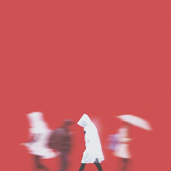 nima chaichi,rain,raining,umbrella,red